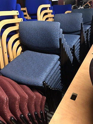 #418, Pre-Owned Steelcase Player Guest Chairs   Blue Fabric