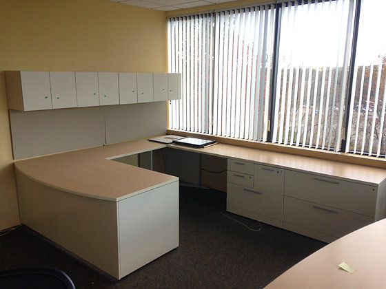 #383, Pre-Owned Allsteel Executive Desk Suite