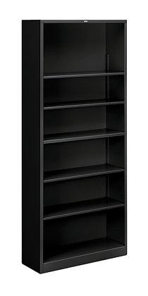 Steel Bookcase, 6 Shelves, Black
