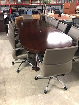 "#500, Pre-Owned Kimball Dock Racetrack Conference Table | 144"" x 48"""