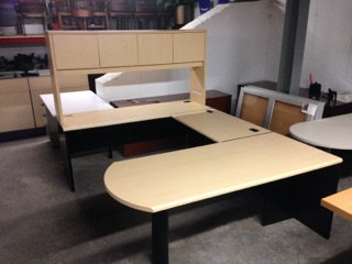 #302, Pre-Owned HON U-Shaped Desk Sets
