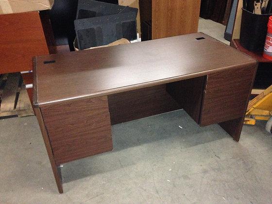 #191, Pre-Owned Hon Double Pedestal Desk