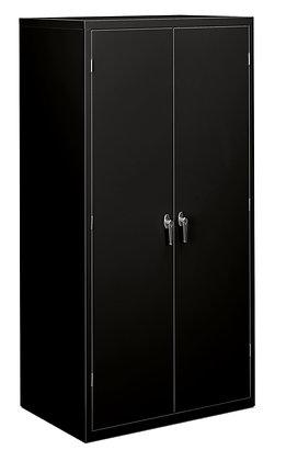 """Storage Cabinet, 5 Shelves, 24""""D, Black"""