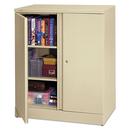 Metal Storage Cabinet, 2 Shelves, Putty