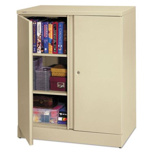 Metal Storage Cabinet 2 Shelves Putty