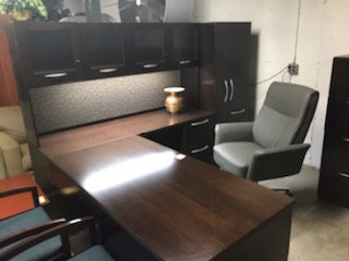 #460, Pre-Owned Kimball Executive Desk Suite