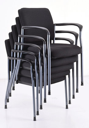 Stacking Guest Chair with Titanium Frames