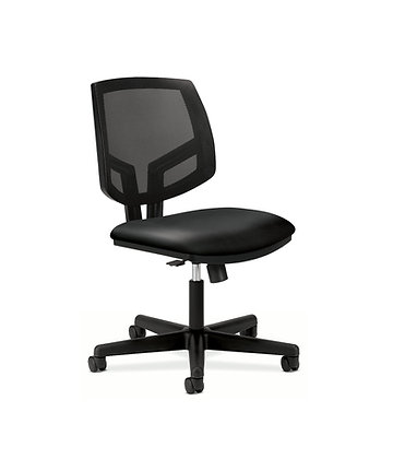 Volt Leather Task Chair | Armless | Mesh Back
