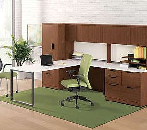 Executive l-shaped office desk.