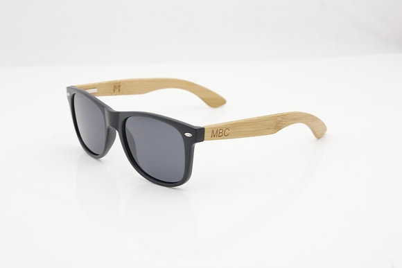 DARK BAMBOO WOOD POLARIZED BLACK