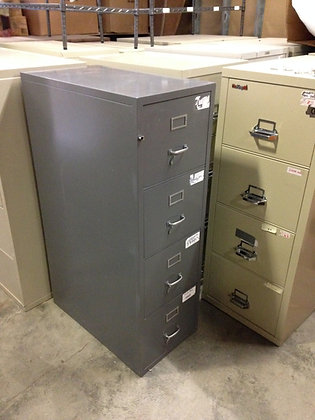 "#259, Pre-Owned 18""W Fireking Fireproof Vertical Filing Cabinet"