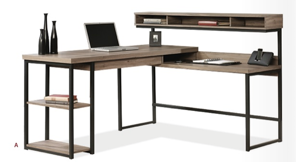 Multi Tiered L Shape Desk
