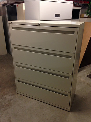 """#81, Pre-Owned 42""""W Hon 4 Drawer Lateral Files"""