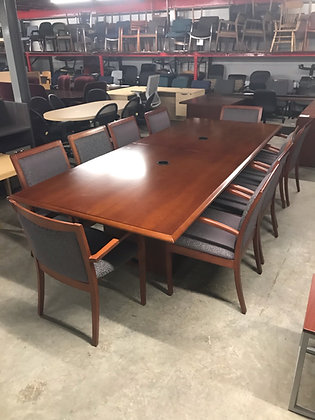 #382, Pre-Owned OFS Conference Table Set | 48 x 120