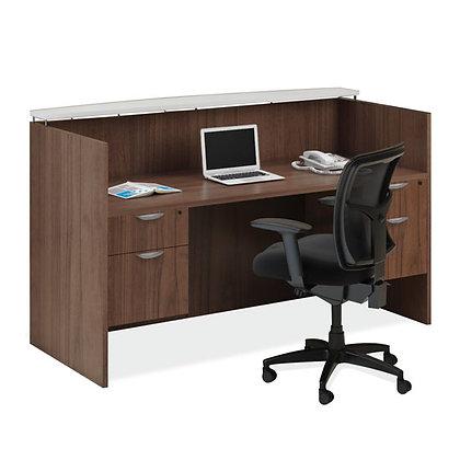 Reception Desk w/ Glass Transaction Top