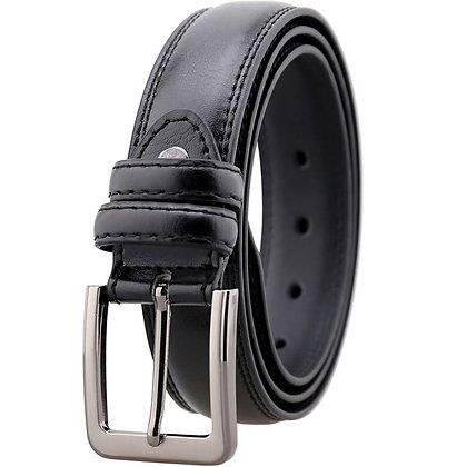 REVIVAL DOUBLE STITCH BLACK BELT