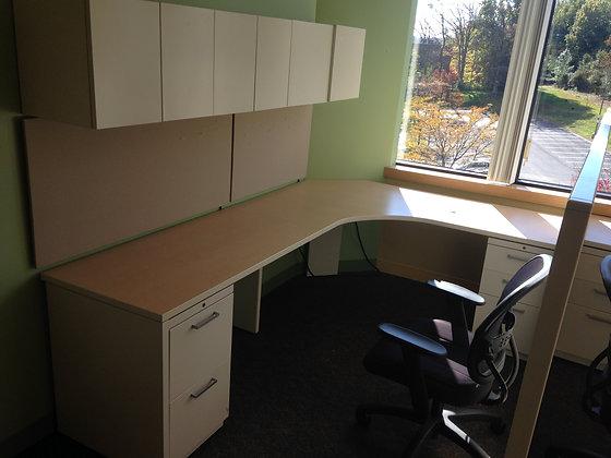 #284, Pre-Owned Allsteel L-Shaped Desks
