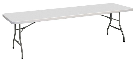 "Plastic Blow-Molded Folding Tables - 96"" x 30"""