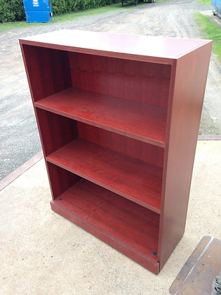 #251, Pre-Owned Cherry 3 Shelf Bookcases