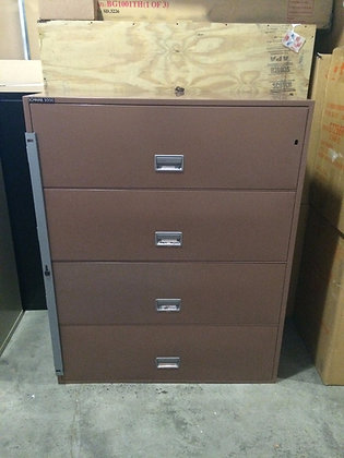 "#121, Pre-Owned Schwab 42"" Four Drawer Fireproof Lateral File"