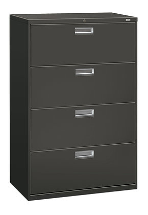 """4 Drawer Lateral File, 36""""W, Charcoal"""