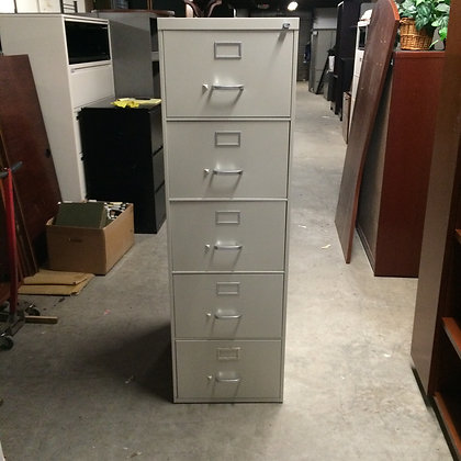 #127, Pre-Owned Steelcase 5 Drawer Vertical Files