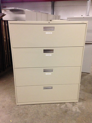 """#90, Pre-Owned 42""""W, Hon 4 Drawer Lateral Files"""