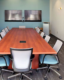 Conference tables and meeting room furniture.