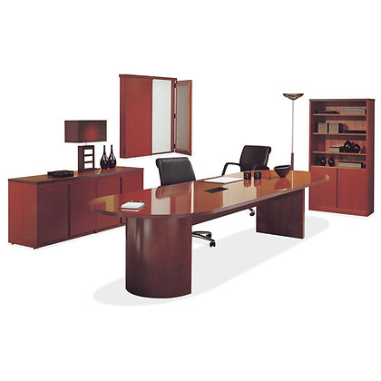 """Wooden Conference Table with """"D"""" Base - 10'"""