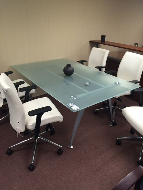 Frosted Glass Conference Table Discount Office Furniture Inc - Frosted glass conference room table