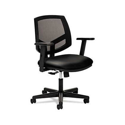 Leather Task Chair | Adjustable Arms | Express