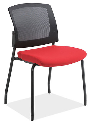 Armless Stacking Side Chair w/ Mesh Back