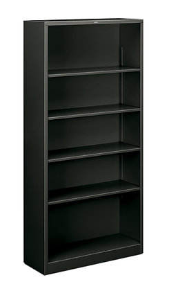 Steel Bookcase, 5 Shelves, Charcoal