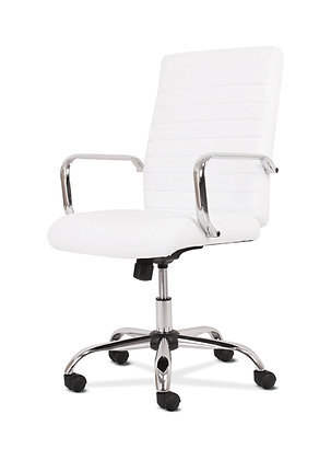 Executive High-Back Chair | Chrome Frame