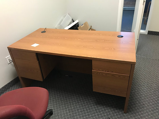 #334, Pre-Owned Double Pedestal Desks