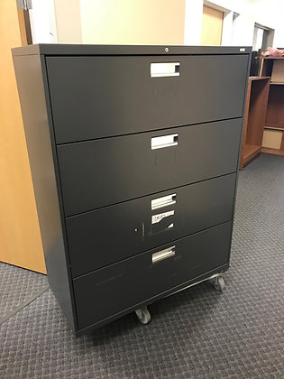 """#352, Pre-Owned HON 4 Drawer 42""""W Lateral Files"""
