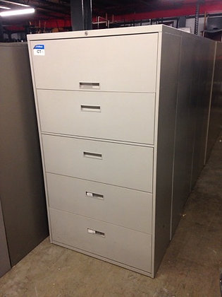"#320, Pre-Owned Steelcase 5 Drawer 36"" W Lateral Files"
