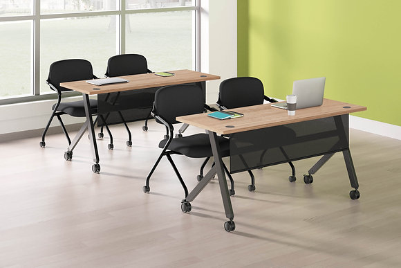 "Flip Base Tables w/ Modesty Panel - 48""W x 24""D"