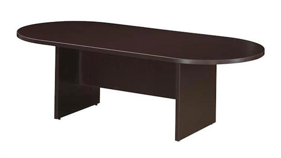 8' Racetrack Conference Table with Slab Base