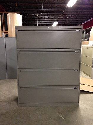 """#74, Pre-Owned Allsteel 42""""W 4 Drawer Lateral Files"""