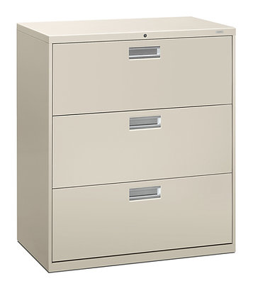"""3 Drawer Lateral File, 36""""W, Light Gray"""