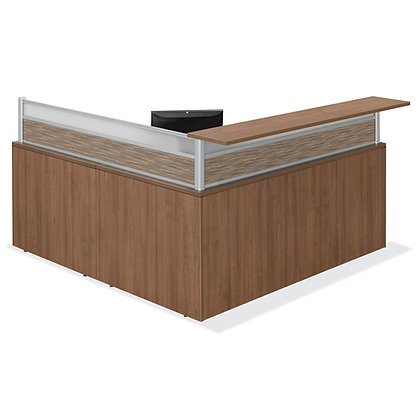 "L Shaped Reception Desk | 72"" x 66"""