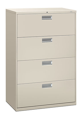 """4 Drawer Lateral File, 36""""W, Light Gray"""