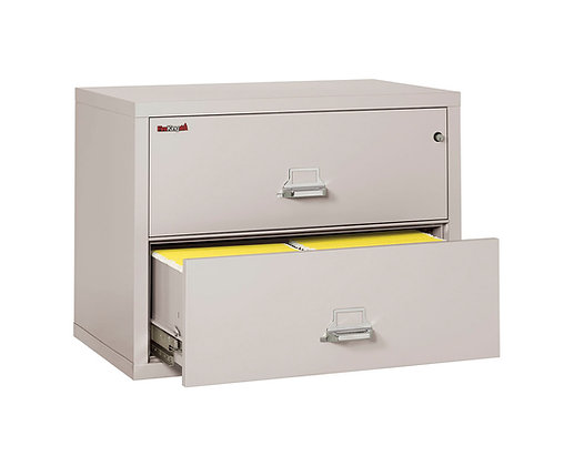 "FireKing Fireproof Lateral File Cabinet | 2 Drawer | 38"" W"