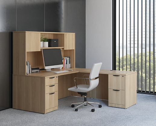 L-Shaped Desk w/ Hutch