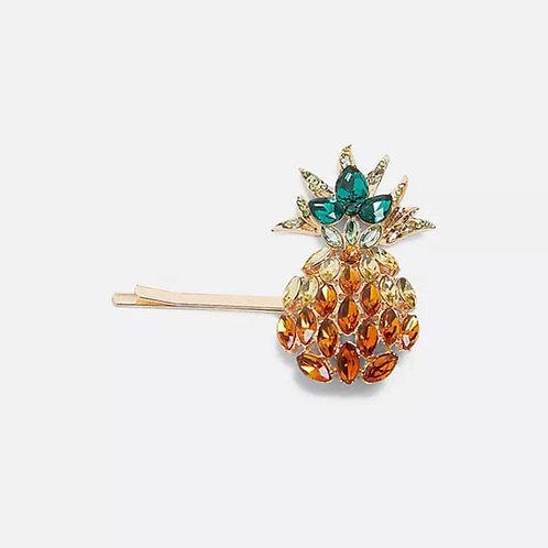 Rhinestone Pineapple Barrette
