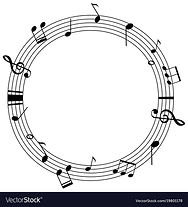 round-frame-template-with-music-notes-on