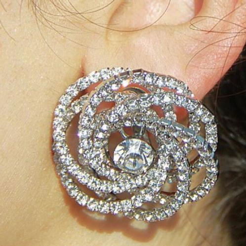 Big Flower Stud Earrings