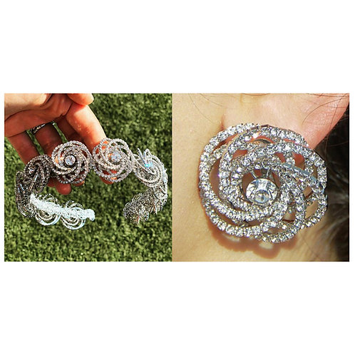 Bundle 1 (Floral Headband & Earrings)