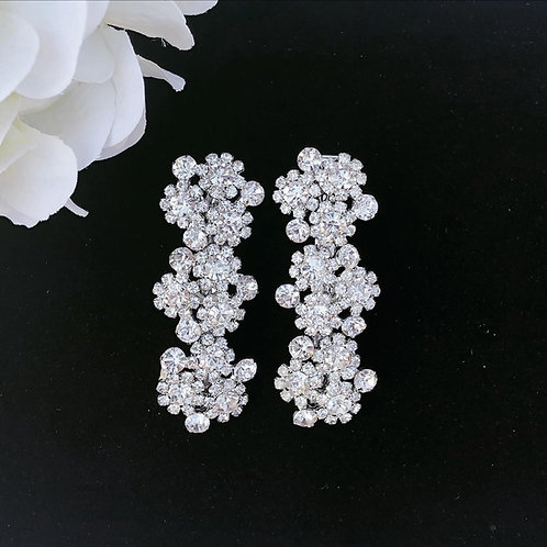 Rhinestone wedding hair clip set